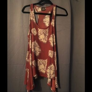 Burgundy tank with tigers